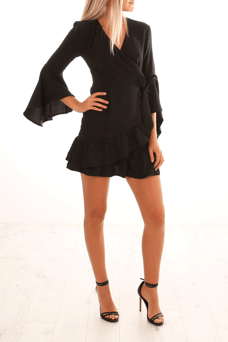Fortune Favours Dress Black