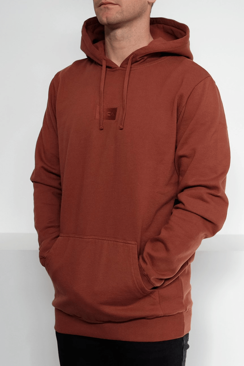 The RVCA Focus Hood Rust RVCA - Jean Jail