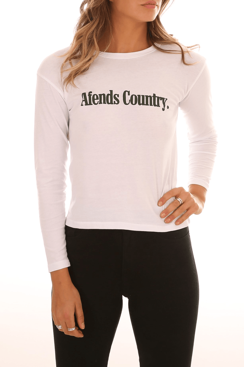 AC Long Sleeve Tee White Afends - Jean Jail