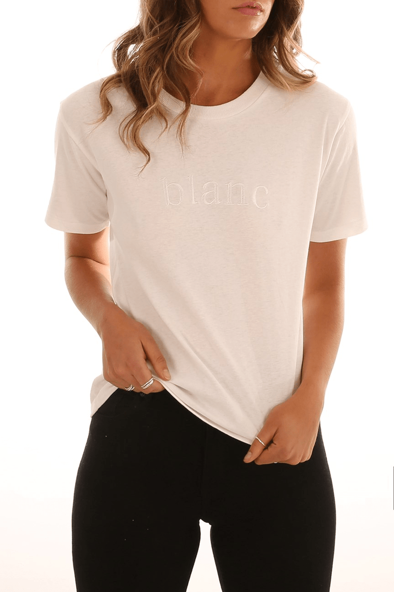 Blanc Embroidered Tee Off White