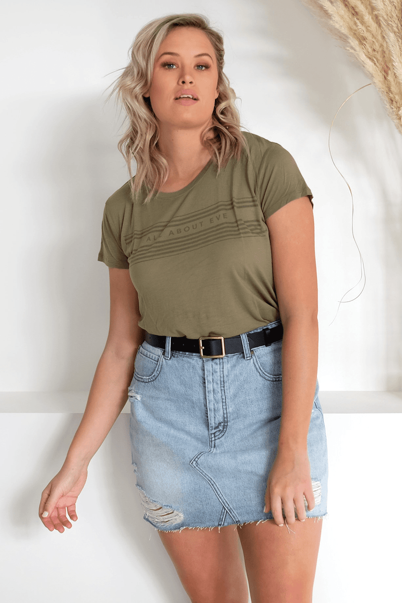 Ellie Tee Khaki All About Eve - Jean Jail