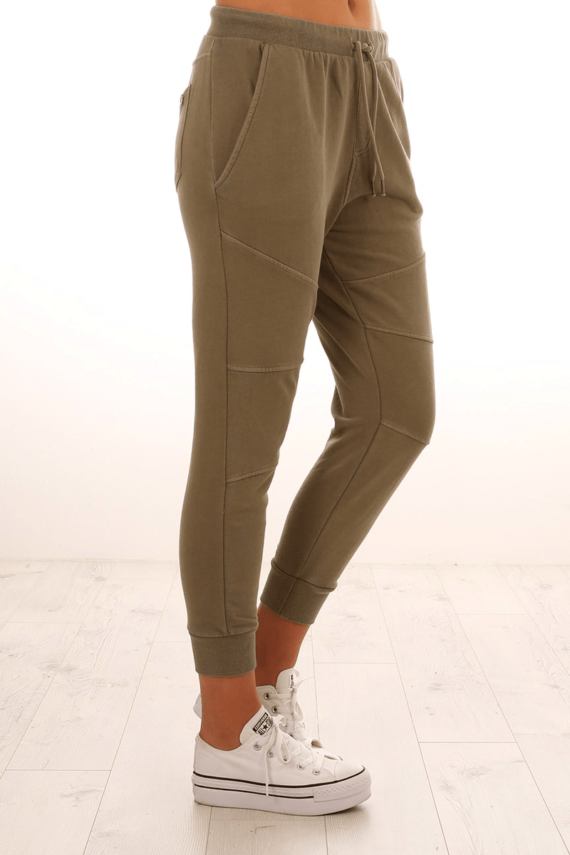 Emily Fleece Trackie Khaki All About Eve - Jean Jail