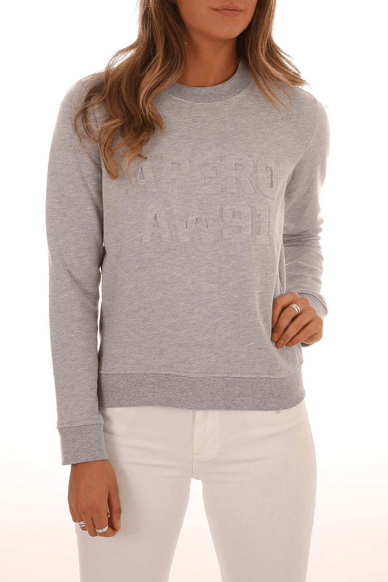 Apero AW91 Embossed Jumper Light Grey apero - Jean Jail