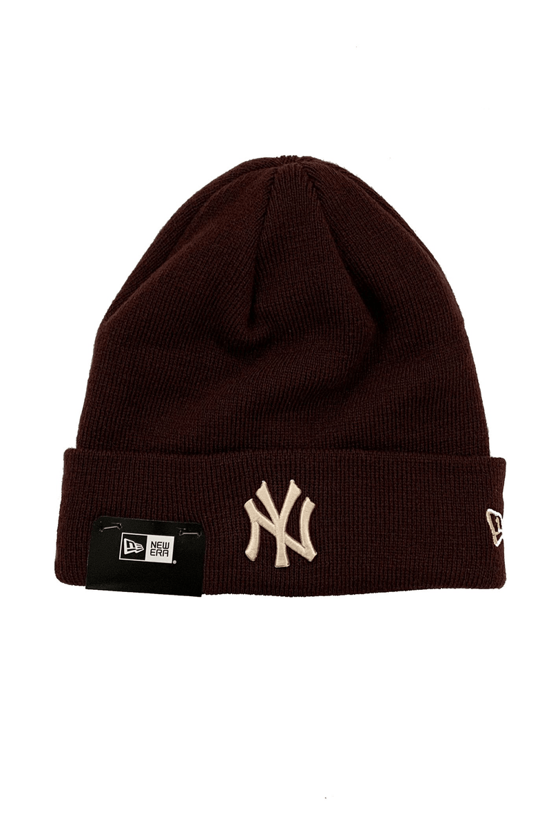 New York Yankees 6 Dart Cuff Beanie Maroon Apricot New Era - Jean Jail