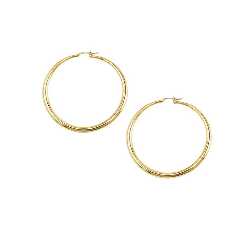 Hoop Earrings Gold Jolie & Deen - Jean Jail