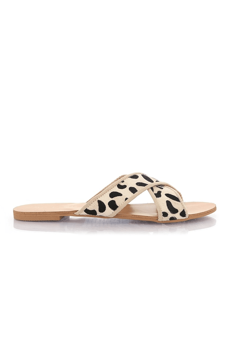 Marsala Slide Snow Leopard Billini - Jean Jail