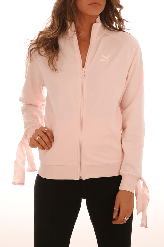 Bow Track Jacket Pearl