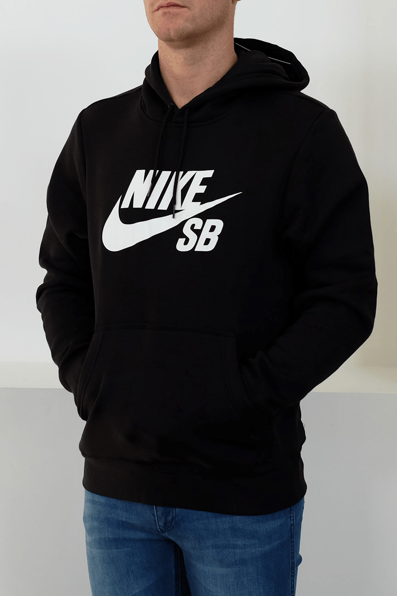 SB Icon Pullover Hoodie Black White Nike SB - Jean Jail