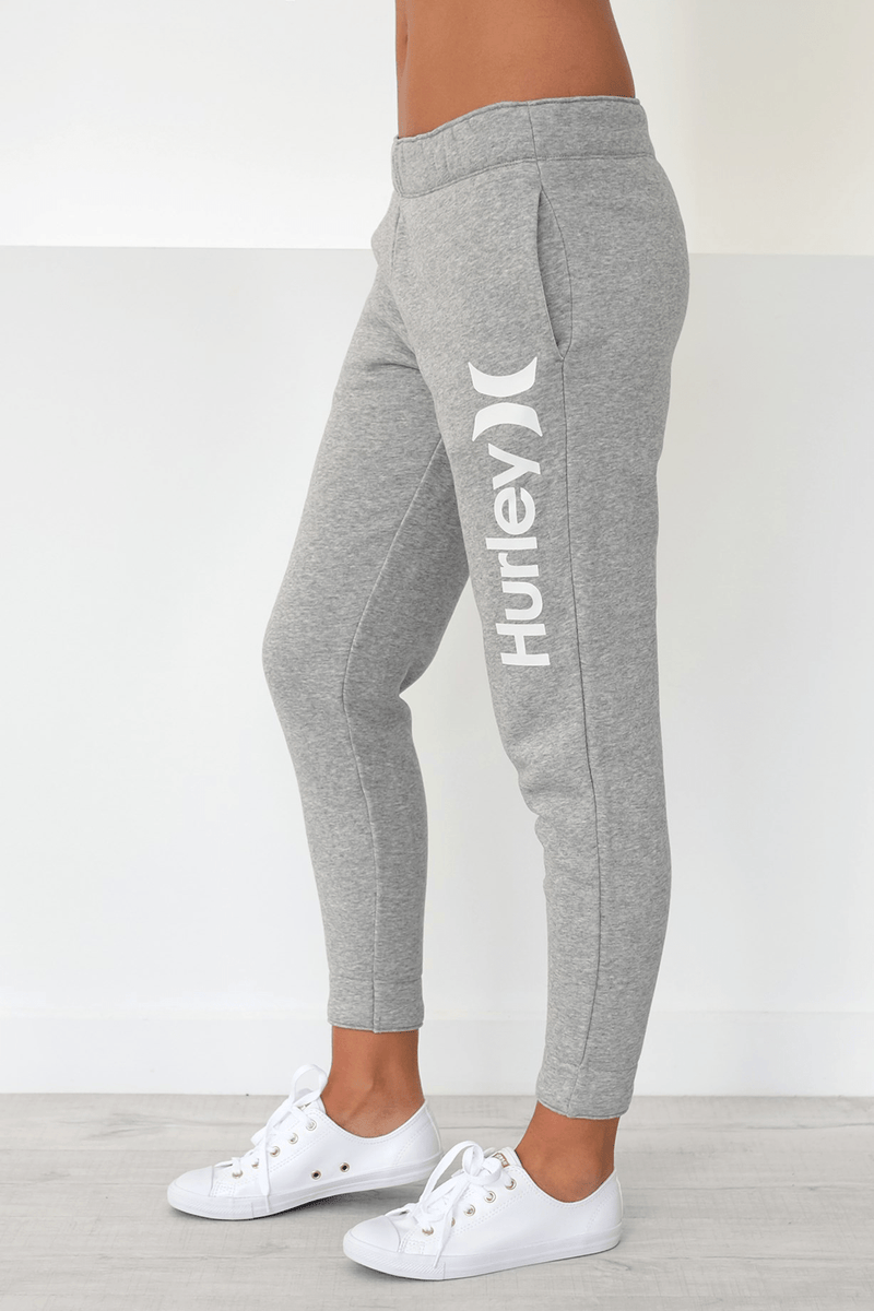 One & Only Fleece Pant Dark Grey Heather Hurley - Jean Jail