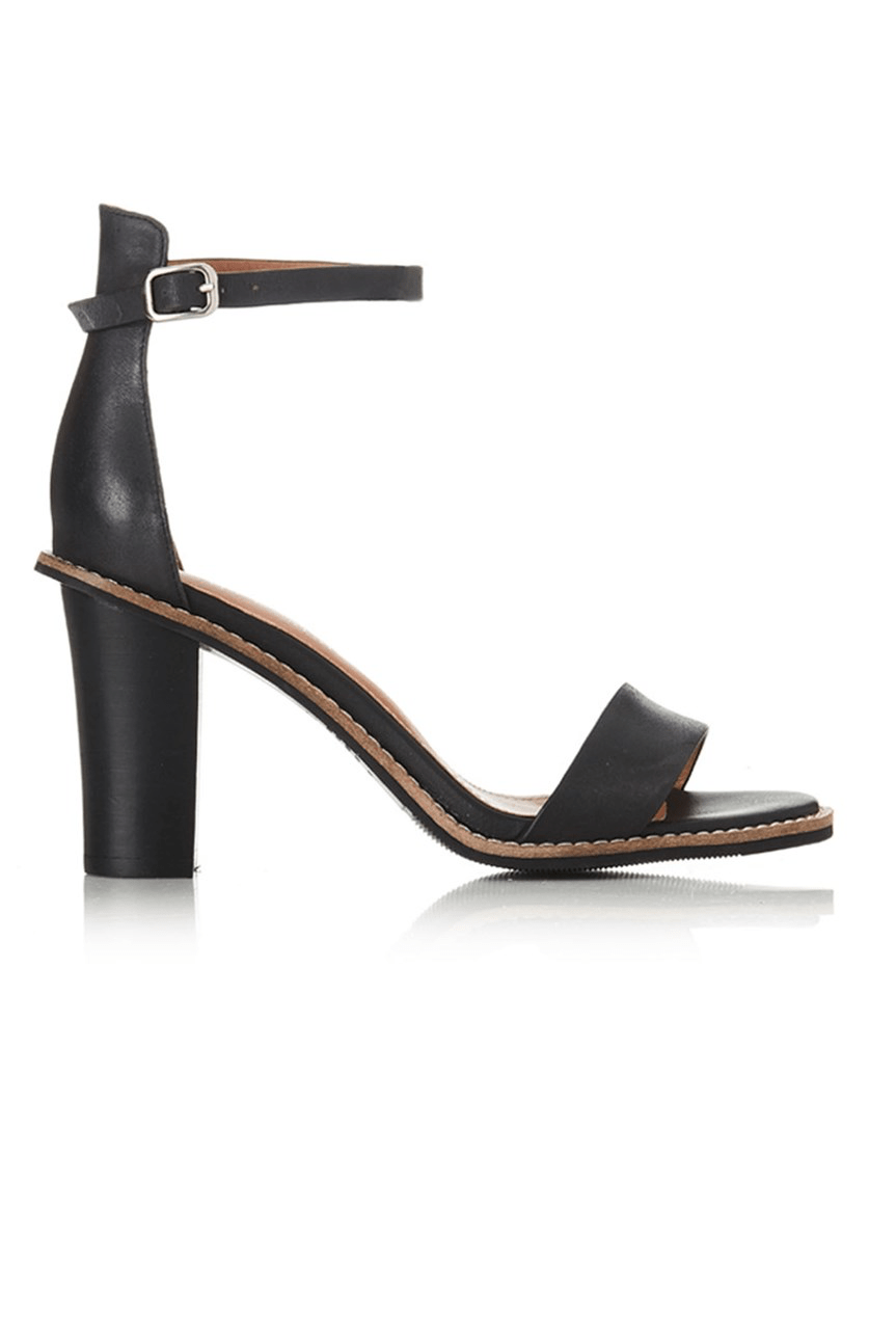 Eve Heel Black Leather