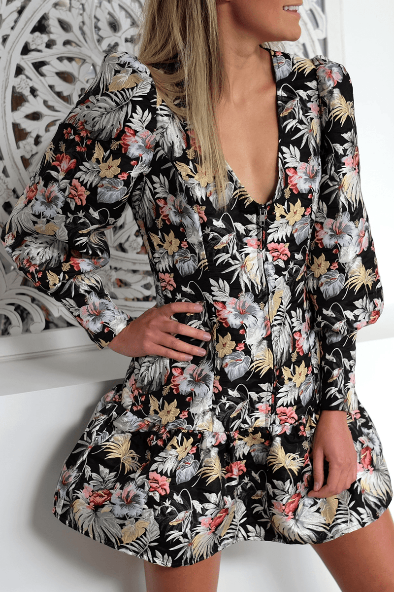 The Secret Garden Mini Dress Floral Mossman - Jean Jail