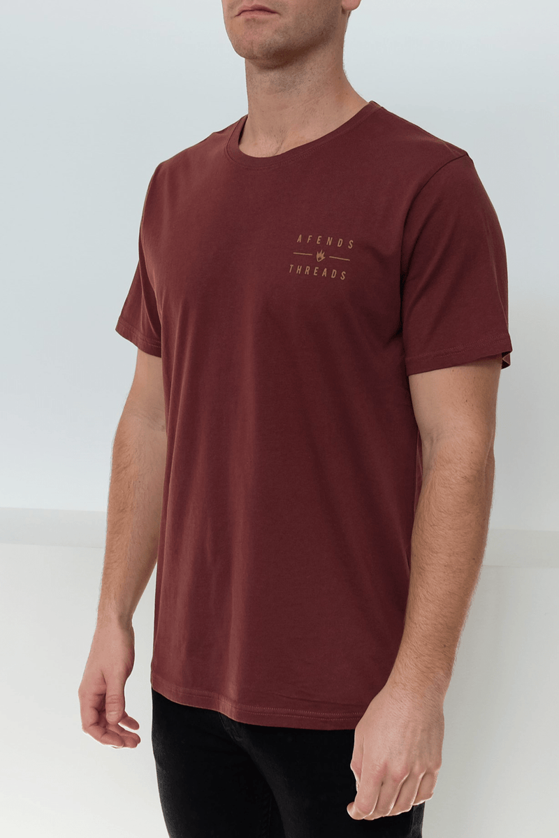 Company Standard Fit Tee Oxblood Afends - Jean Jail