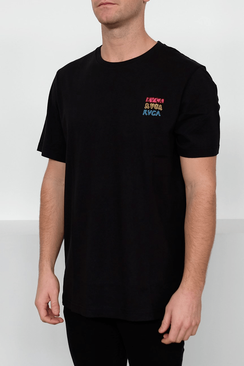 Grillo Smiles Tee Black RVCA - Jean Jail