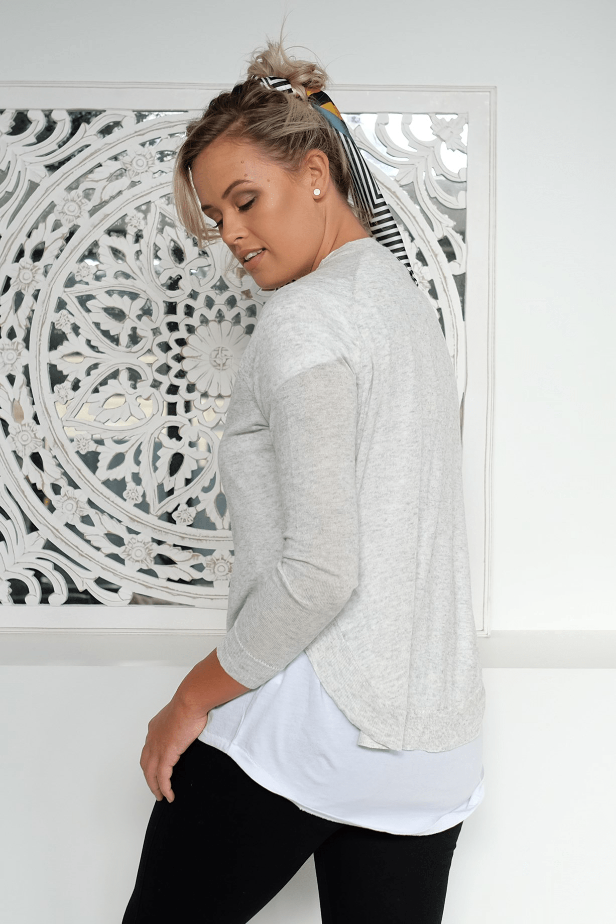 Be My All Knit Top Grey