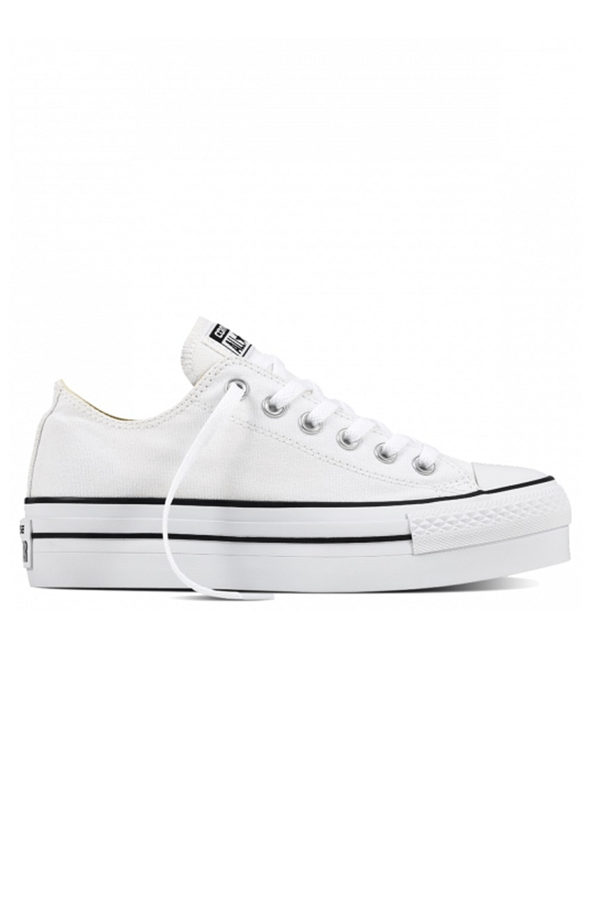 4c9aa1215e955 Chuck Taylor All Star Platform Low Top White Converse - Jean Jail