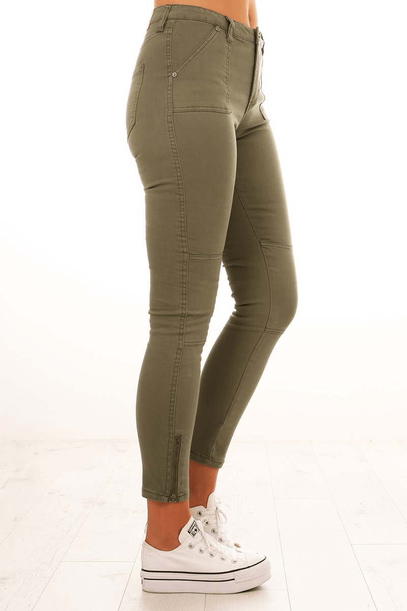 Eliza Utility Pant Khaki All About Eve - Jean Jail