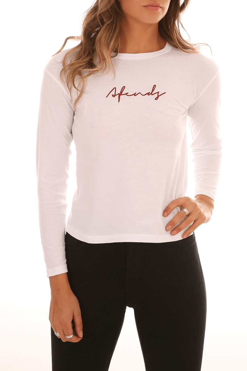 Void Long Sleeve Tee White Afends - Jean Jail