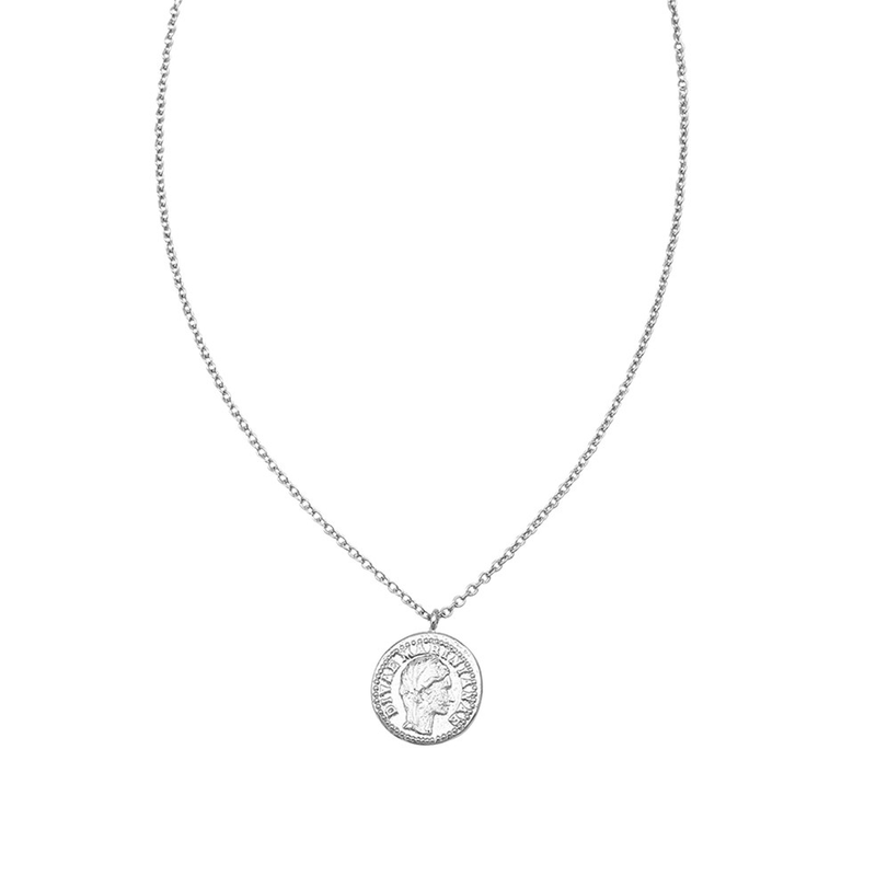 Clio Coin Necklace Silver Jolie & Deen - Jean Jail