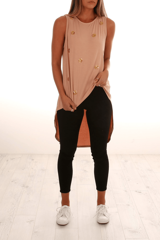 Amy High Low Top Blush