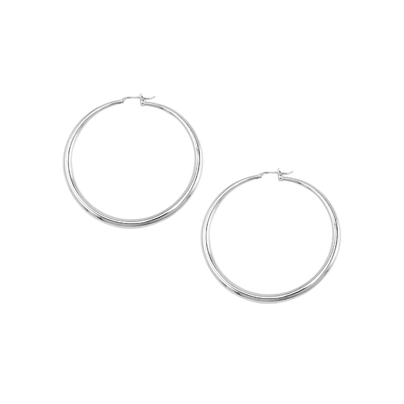Hoop Earrings Silver Jolie & Deen - Jean Jail