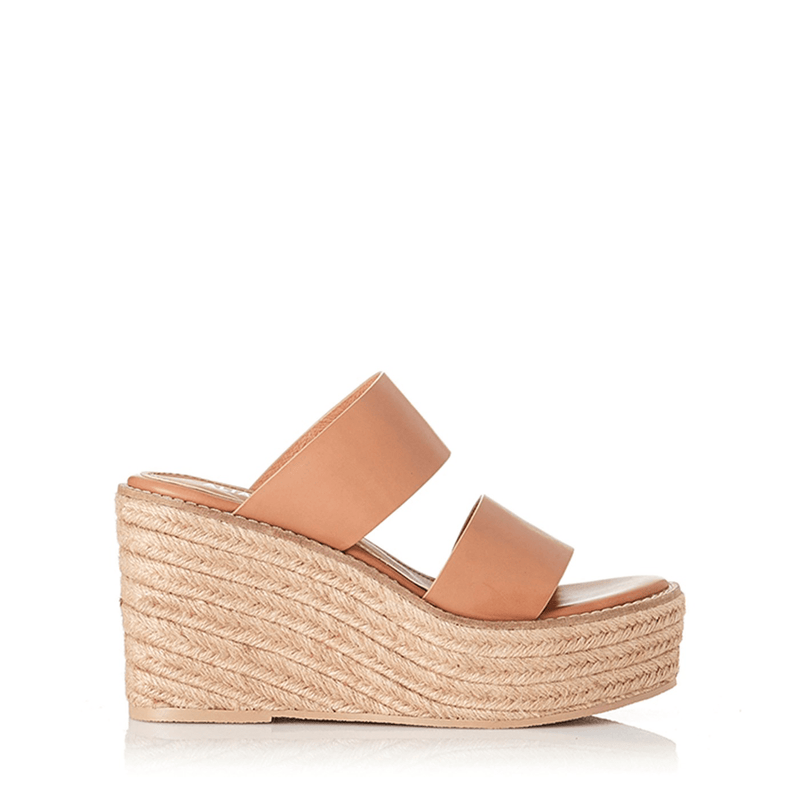 Kaara Wedge Light Tan Leather Alias Mae - Jean Jail