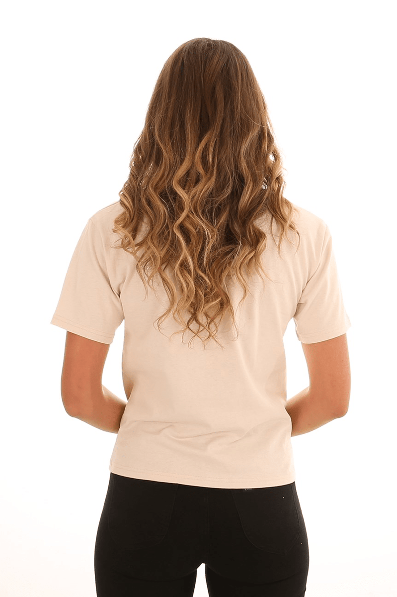 Apero Embroidered Tee Beige
