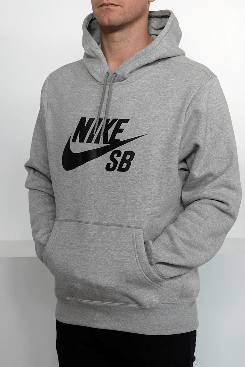 SB Icon Pullover Hoodie Dark Grey Heather Black Nike SB - Jean Jail