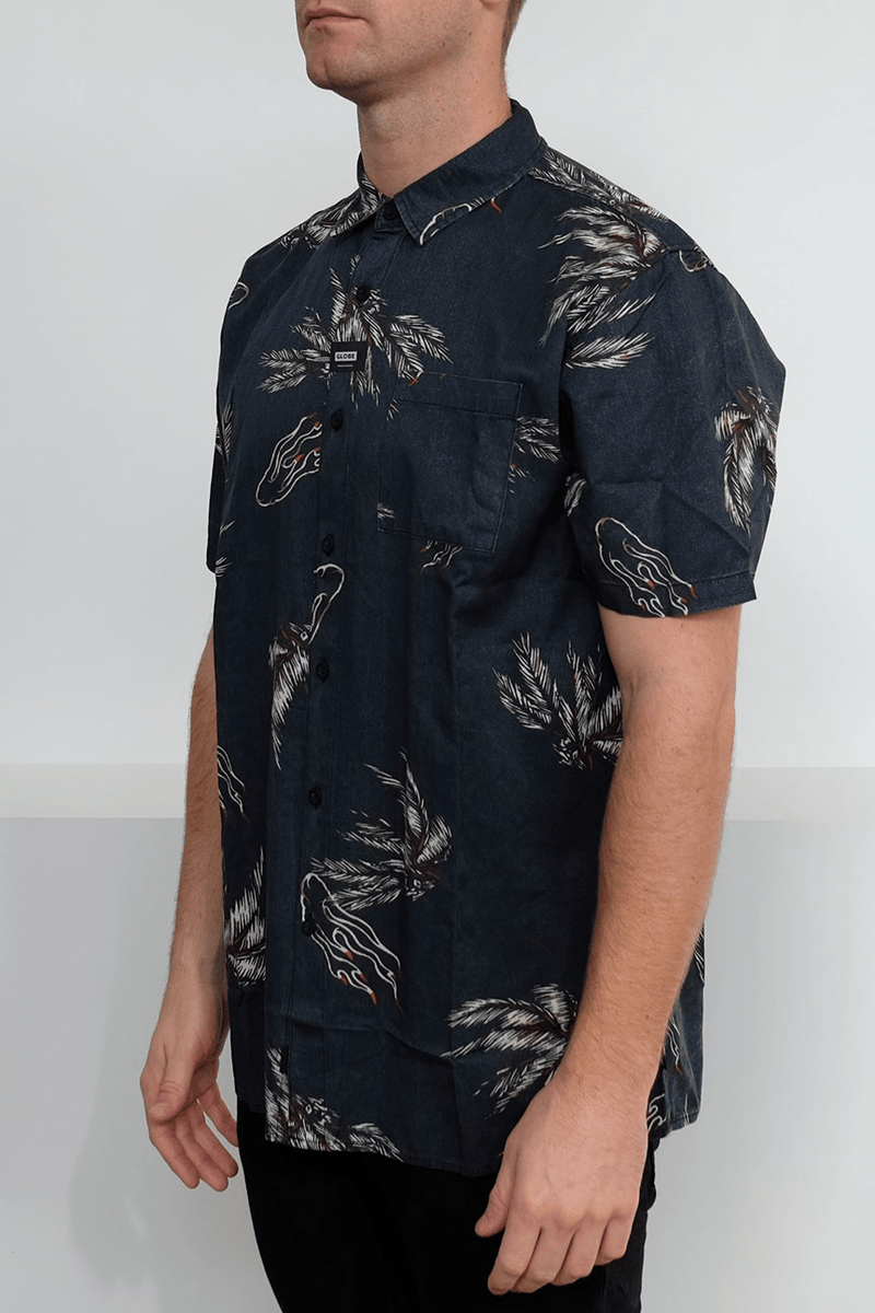 Appleyard Howler Short Sleeve Shirt Midnight Globe - Jean Jail