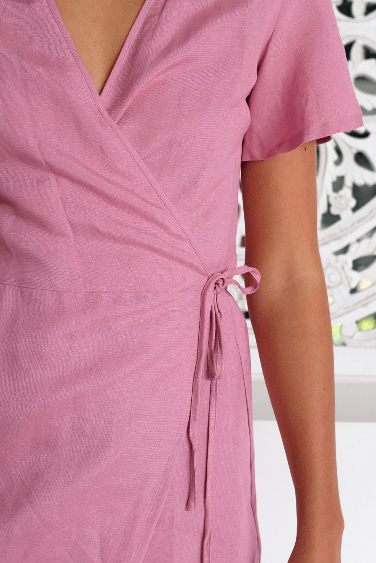 Avery Wrap Dress Pink