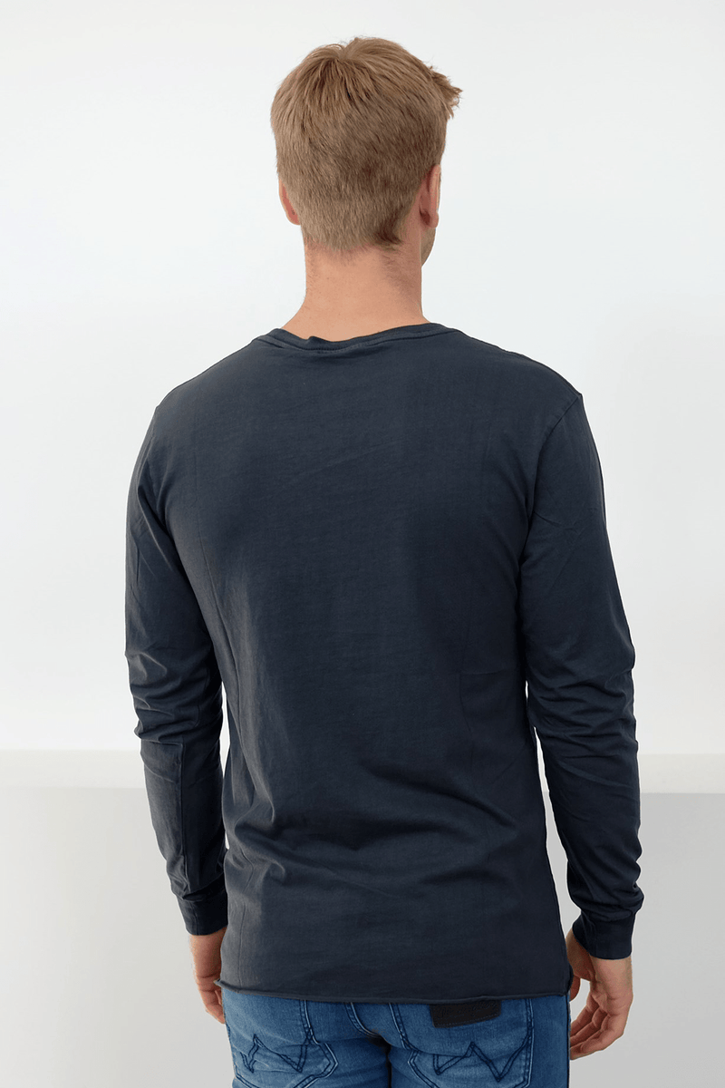 Everyday Wash Long Sleeve T-Shirt Vintage Navy