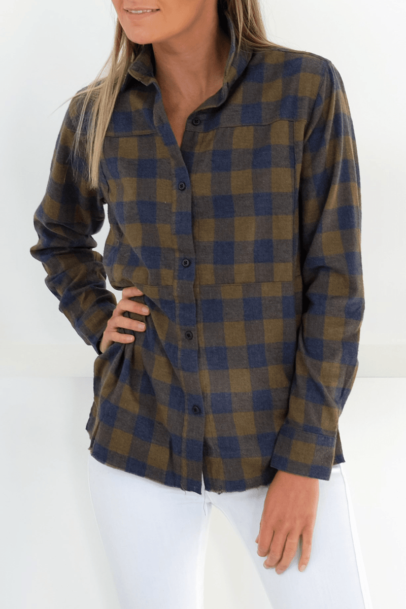 Wilson Flannel Top Long Sleeve Shirt Olive Canvas Hurley - Jean Jail