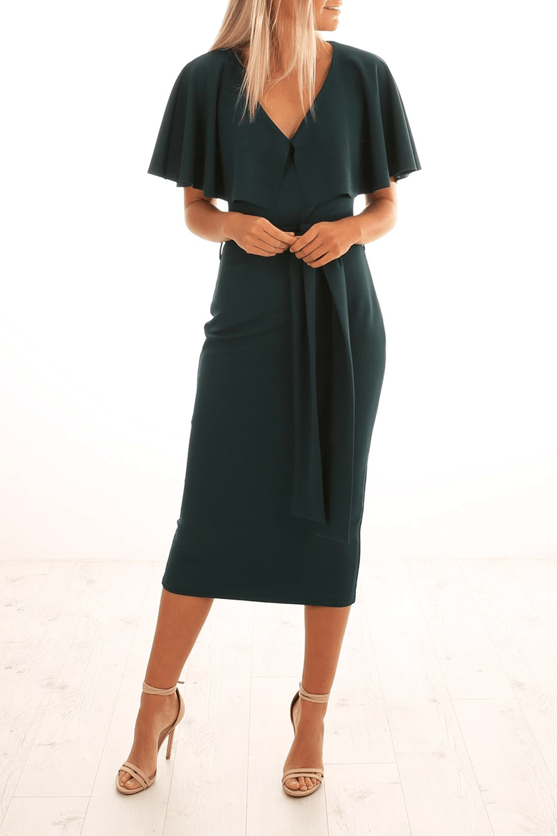 Mrs Carter Midi Dress Pine Pasduchas - Jean Jail