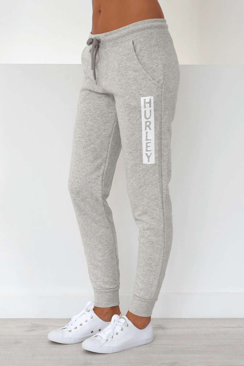 Ivy Cuffed Track Pant Grey Heather Hurley - Jean Jail