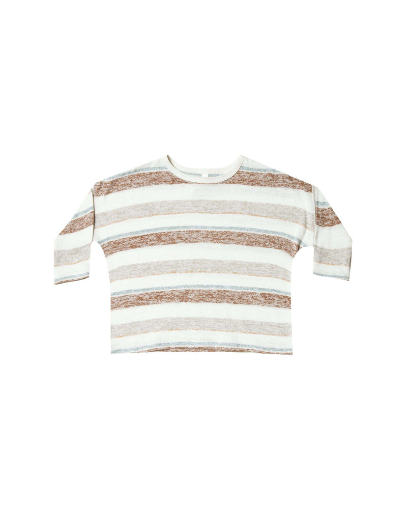 Boxy Striped Tee Caramel