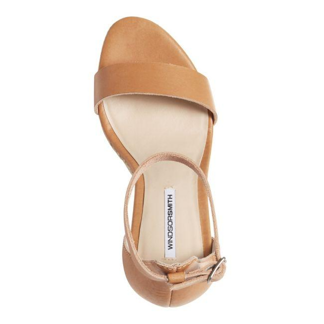 Kaila Wedge Natural Leather