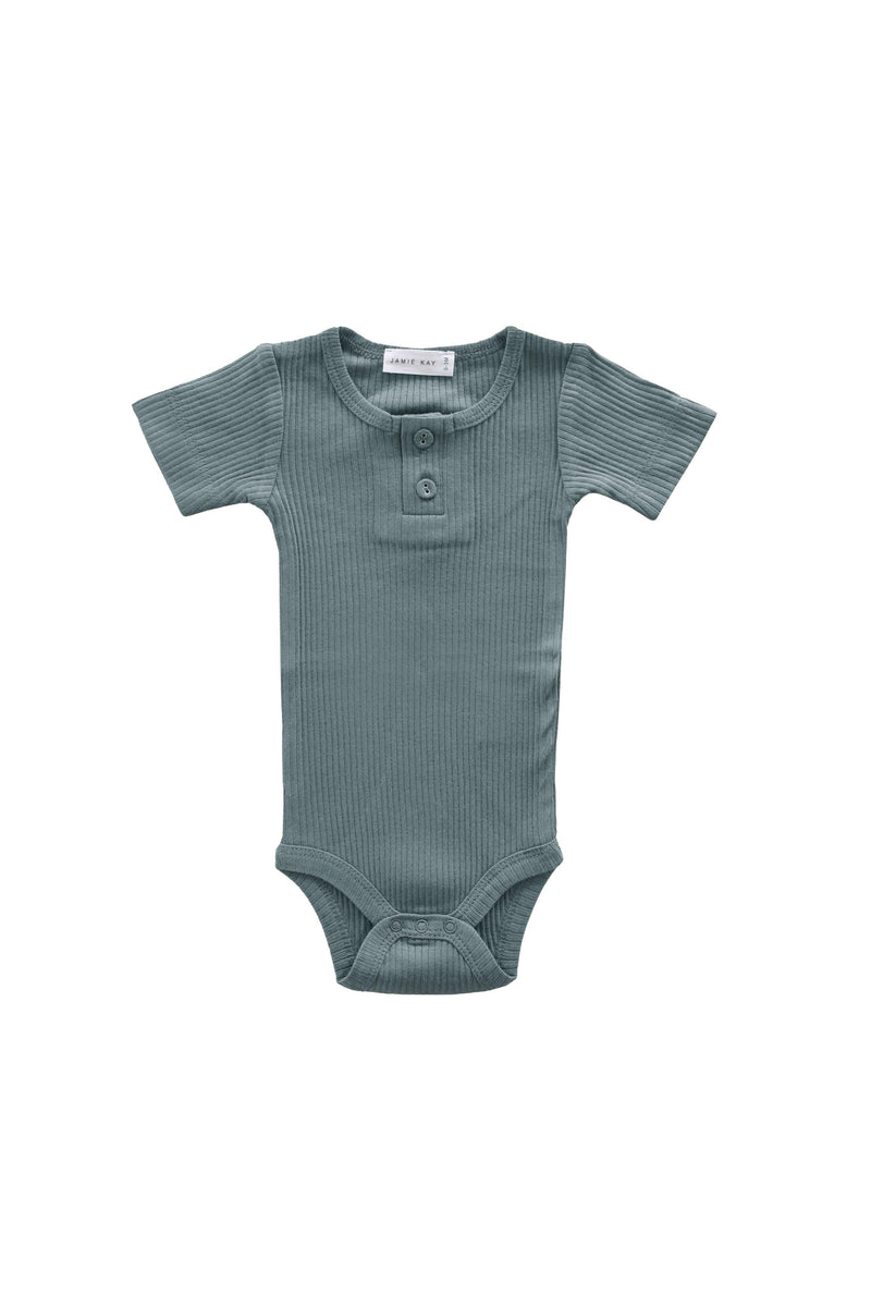 Cotton Modal Tee Bodysuit Storm