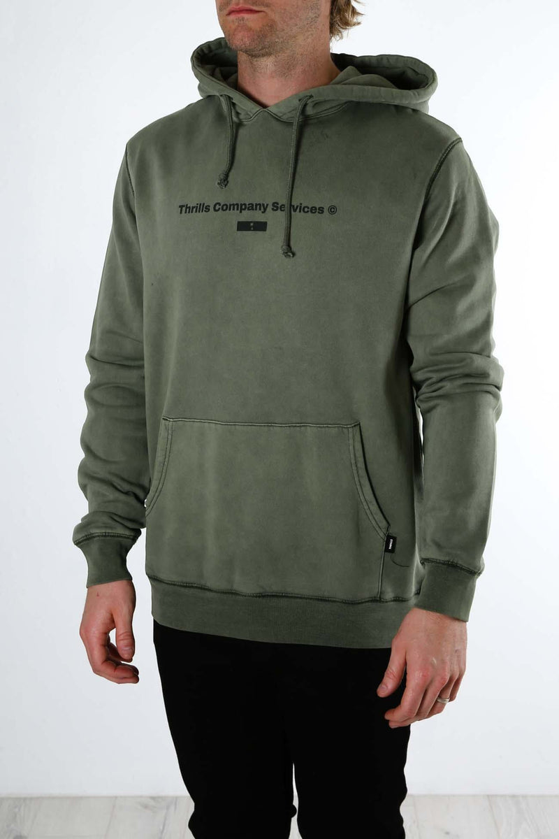 Thrills Company Services Pull On Hood Army Green Thrills - Jean Jail