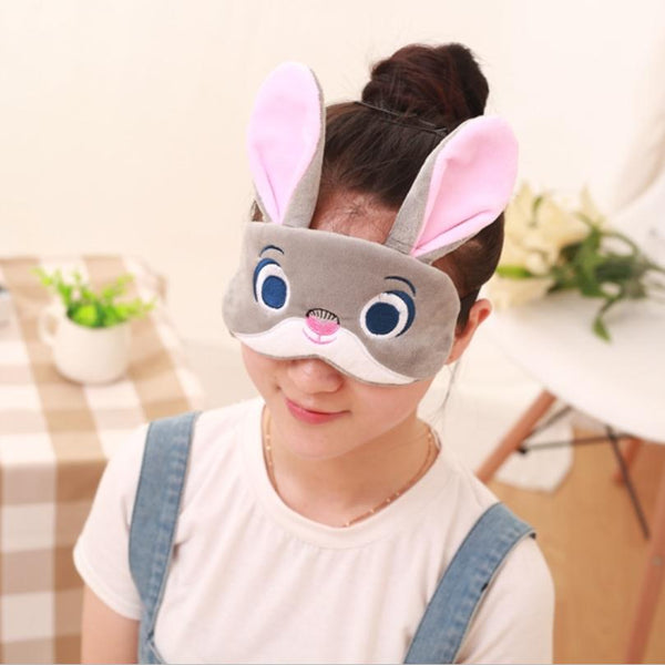 1p bunny / Totoro / fox / lazy sleep mask on holiday travel, relax, sleep aid blindfolded ice cover eye patch sleeping mask cov - King City Treasures