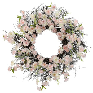 "22"" Light Pink Cherry Blossom Wreath - King City Treasures"