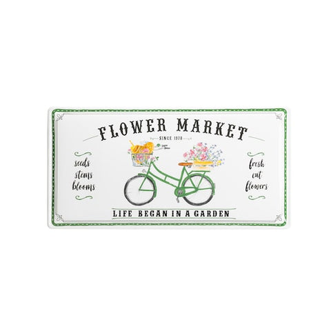 Flower Market Enamel Wall Sign