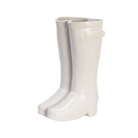 White Resin Boot