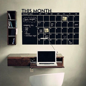 DIY Schedule Chalkboard Decals