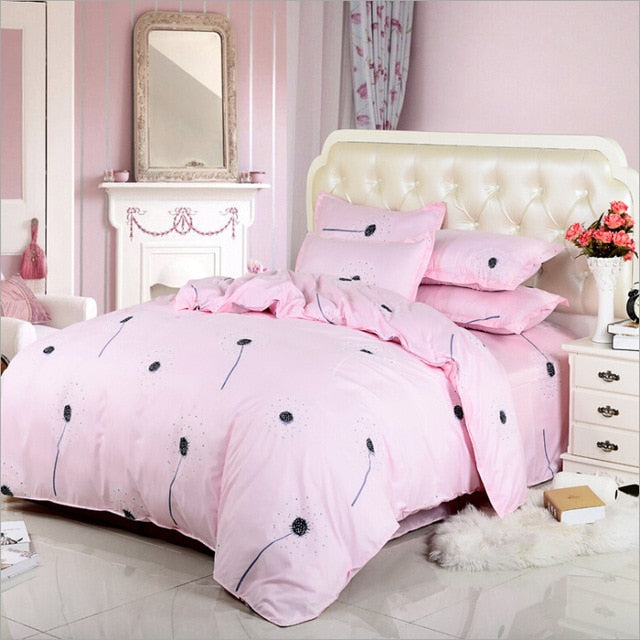 Rural Princess Lovely Flowers 4pcs/3pcs Quilt Cover Sets
