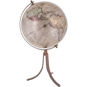 Rose Gold Globe With Copper Stand