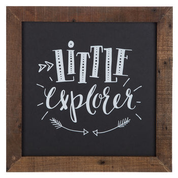 Little Explorer Wood Wall Decor