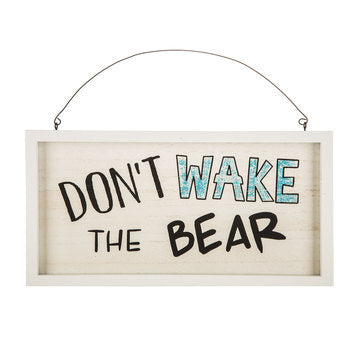 Don't Wake The Bear Wood Wall Decor