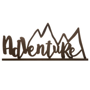 Adventure With Mountain Peaks Metal Decor - King City Treasures