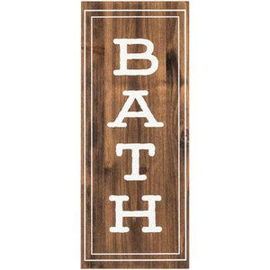 Bath Wood Wall Decor - King City Treasures