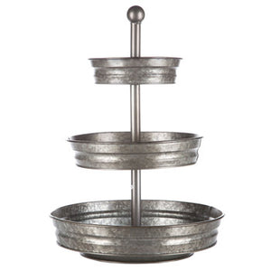 Galvanized Metal Tray Stand