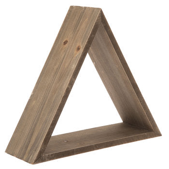 Triangular Wood Wall Shelf